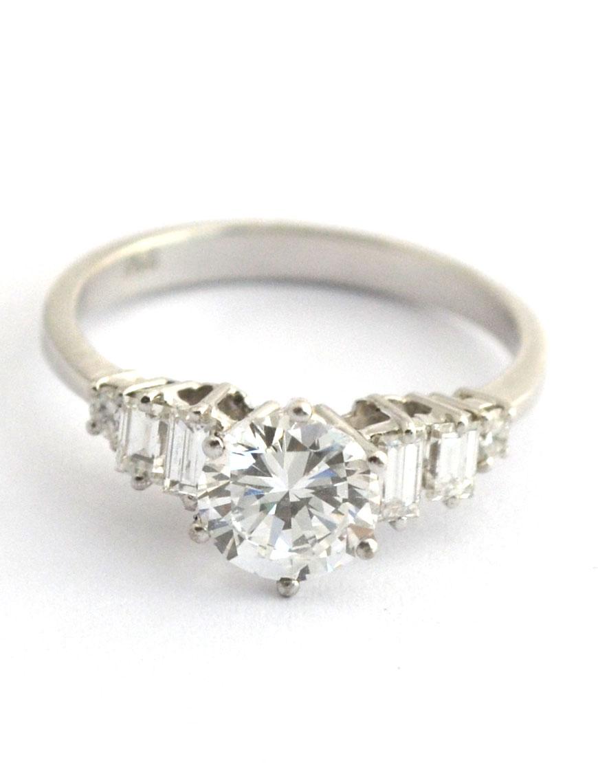 Diamantring weißgold 1 karat  River Weissgold-Ring, 750, 1-Karat Brillant, lupenrein | aarpp.de