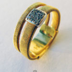 Marco Bicego Ring Masai 18 ct Gelbgold 9 Diamanten