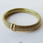 Geflochtenes Goldarmband 585 Gelbgold (14 Karat) Milanaise Armband 60er Jahre