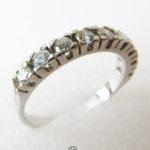 Memoirering 585 Weißgold, 9 Brillanten, Verlobungsring, Hochzeitsring, Beisteckring
