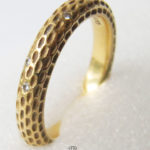 Ring Niessing 900 Gold 10 Brillanten puristisch Bauhaus Design