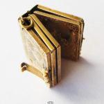 Antikes Buch Medaillon Gold aufklappbar Anhänger