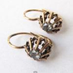 Antike Ohrringe 585 Rotgold 14Kt Rosendiamant 1900