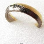 Freundschaftsring 585 Gelbgold glänzend Weißgold matt Diamanten