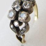Diamantring Kleeblatt 750 Gelbgold 1890