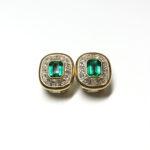 Wempe-750Gold-Diamant-Smaragd-Ohrringe