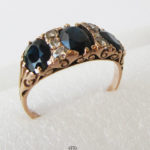 Ring 585 Rotgold Saphire Diamanten Brillanten 1950