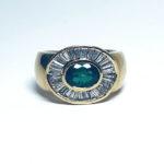 Ring 750er Gelbgold Wempe Diamant Smaragd