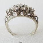 Diamantring 14 Karat Weißgold Vintage Rauten Form