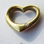 Christ Kettenanhänger Herz Gelbgold Diamant