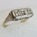 Diamantring 585 Goldring Anfang 1900