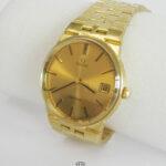Herrenarmbanduhr 750 Gold OMEGA GENEVE 1211 Automatik 750 Goldarmband