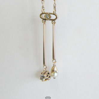 Art Deco Lavalier Collier Gold