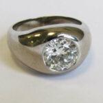 Solitaire Diamantring Weißgold 750 Brillant Solitär, Ringgröße: 52,5