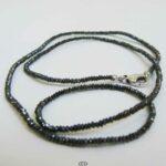 Collier Fancy Black Diamonds Halskette mit schwarzen Diamanten - 45 cm