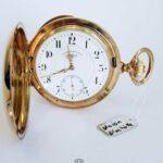 Union Glashütte B/Dresden 585 Rotgold-Gehäuse Typ Louis XV Übergröße Durchmesser 58mm