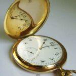 Antike Taschenuhr Ulysse Nardin Locle Geneve 14K Gold Savonette - 3 Deckelgehäuse