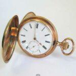 IWC Taschenuhr 585 Rosegold 1903-1905 Savonette 3 Deckelgehäuse Durchmesser 53mm